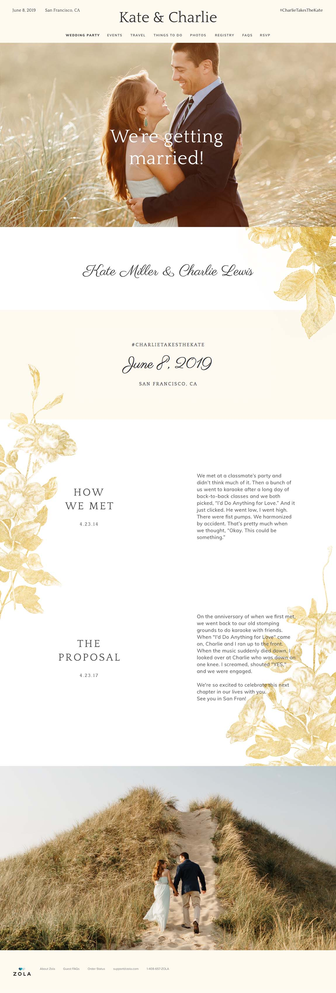 Free Wedding Website Templates- Heaven  Zola