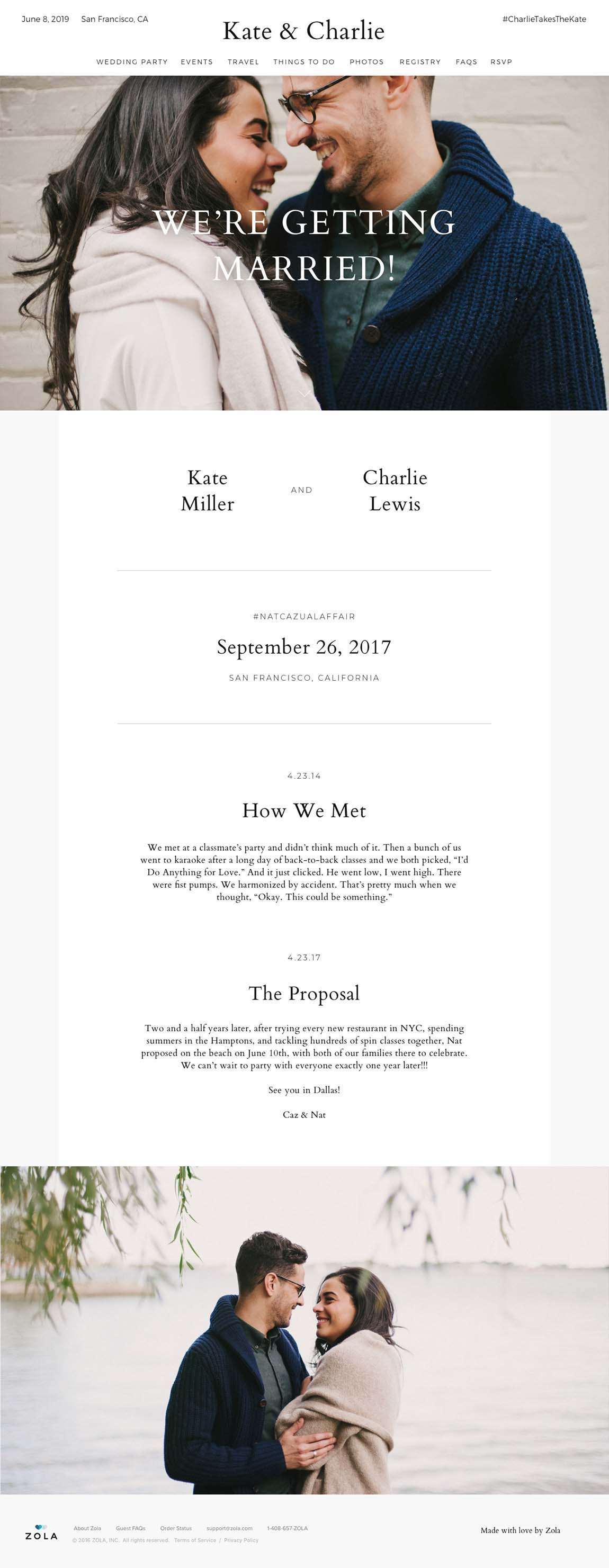 Free Wedding Website Templates- Morrison  Zola